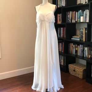 David Bridal Grecian Style Wedding Gown